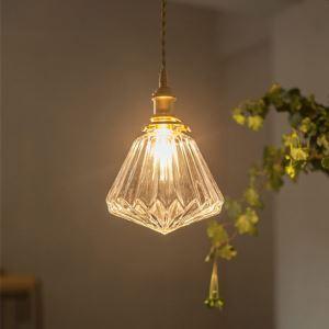 Nordic Glass Pendant Light Diamond Shape Lamp Ceiling Dining Room Light Living Room Hallway LZ123
