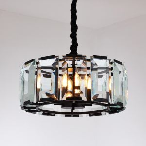 Nordic Retro Style Pendant Light Circular Crystal Lamp Creative Lamp Living Room Dining Room Light QMLT0034