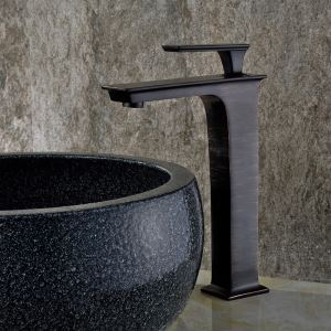 Black Bathroom Sink Faucet Nickel Brushed Basin Tap Single Handle Tap