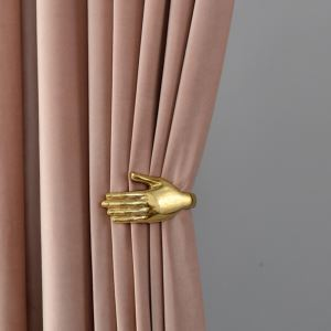 Max Blackout Curtain Velvet Imitation Solid Color Curtain Bedroom Curtain (One Panel)