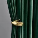 Max Blackout Curtain Velvet Imitation Dark Solid Color Curtain Bedroom Curtain (One Panel)