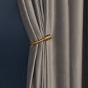 Luxury Max Blackout Curtain Retro Solid Color Curtain Living Room Curtain (One Panel)