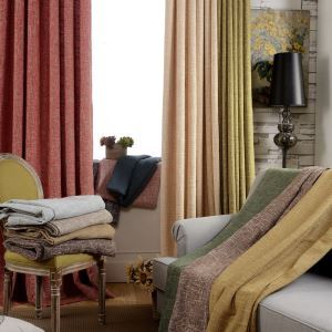 Modern Blackout Curtain Solid Color Curtain Bedroom Living Room Curtain (One Panel)