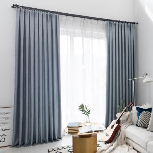 Elegant Blackout Curtain Solid Color Curtain Bedroom Office Curtain (One Panel)