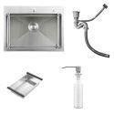 Single Bowl Kitchen Sink TopMount Stainless Steel Sink with Drain Basket HM7245