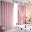Fresh Max Blackout Curtain Hollow Star Curtain With Sheer Curtain Kids Room Curtain (One Panel)