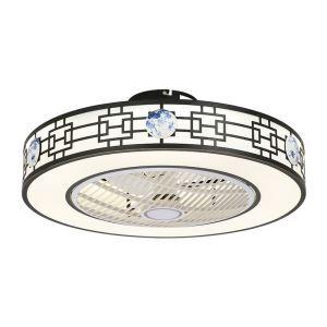 Modern LED Ceiling Fan Light Energy Saving Flush Mount Living Room Bedroom Office Study Room Lamp 23 Inch QM8029