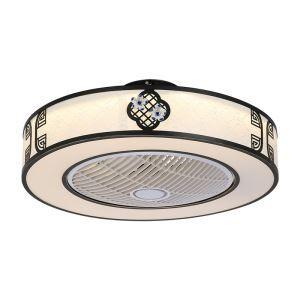 Modern LED Ceiling Fan Light Energy Saving Flush Mount Living Room Bedroom Office Study Room Lamp 23 Inch QM8030