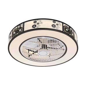 Modern LED Ceiling Fan Light Energy Saving Flush Mount Living Room Bedroom Office Study Room Lamp 23 Inch QM8032