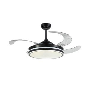 Modern LED Ceiling Fan Light Invisible Retractable Chandelier Fan Light With Remote Control Living Room Lamp QM9002