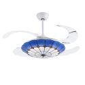 Modern LED Ceiling Fan Light Invisible Retractable Chandelier Fan Light With Remote Control Living Room Lamp QM8027