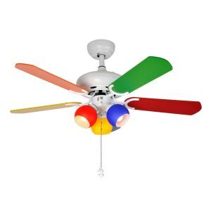 Modern Ceiling Fan Light Chandelier Fan Light With Remote Control Colorful Living Room Kids Room Lamp QM8014