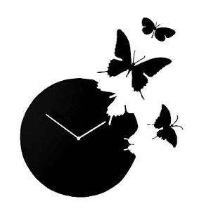 Butterfly Acrylic Mute Wall Clock