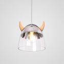 Classical Glass Pendant Light Wood Horn Lamp Creative Light Living Room Bedroom Lighting LB941075