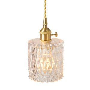 Nordic Pendant Light Brass Glass Lighting Artistic Light With Twist Switch Dining Room Study Lamp PL7003