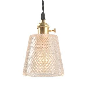Nordic Pendant Light Creative Glass Lamp With Twist Switch Bedroom Study Living Room Lighting  PL037