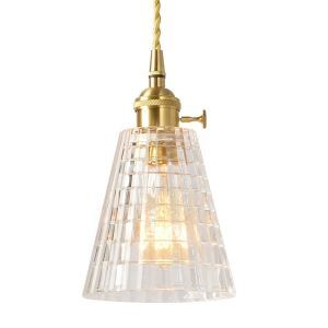 Nordic Glass Pendant Light Brass Lamp Tower Light With Twist Switch Dining Room Hallway Lighting PL7001