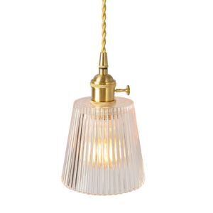 Nordic Pendant Light Brass Glass Lamp Tower Light With Twist Switch Dining Room Hallway Lighting PL7004