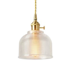 Nordic Simple Pendant Light Brass Glass Lamp With Twist Switch Kitchen Dining Room Hallway Lighting PL7006