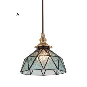 Nordic Retro Pendant Light Stained Glass Lamp Creative Light Hallway Dining Room Bedroom Lighting DD002