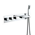 Wall Mount Bathtub Faucet Waterfall Bathtub Tap With Handshower Chrome/Black/Nickel Brushed