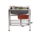 Modern Kitchen Sink Movable Outdoor Sink Stainless Steel Single Bowl Sink (Faucet Not Included)