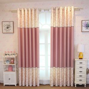 Modern Semi Blackout Curtain Leaf Printed Curtain Living Room Bedroom Curtain (One Panel)