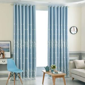 Contemporary Max Blackout Curtain Embroidery Curtain With Sheer Curtain Bedroom Curtain (One Panel)