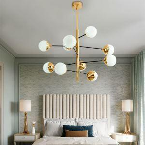 Nordic Glass Pendant Light Magic Bean Shape Chandelier Lighting Bedroom Living Room Lamp D305