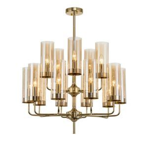 Nordic Glass Pendant Light Modern Cylinder Chandelier Lamp Bedroom Living Room Lighting D201