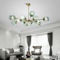 Nordic Glass Pendant Light Magic Bean Shape Lamp Chandelier Light Bedroom Living Room Lighting D301