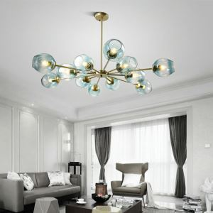Nordic Glass Pendant Light Magic Bean Shape Lamp Chandelier Light Bedroom Living Room Lighting D301