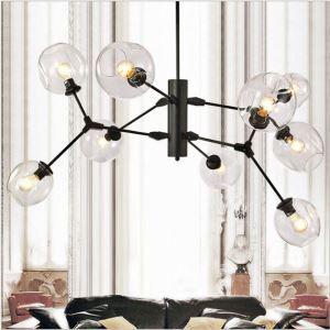 Nordic Style Glass Pendant Light Round Shape Chandelier Lamp Home Lighting Living Room Light D122