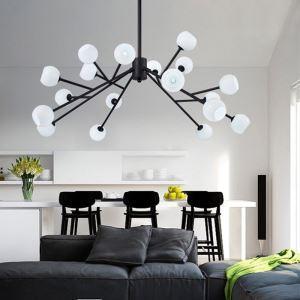 Nordic Glass Pendant Light Magic Bean Shape Lamp Creative Chandelier Living Room Lighting D61