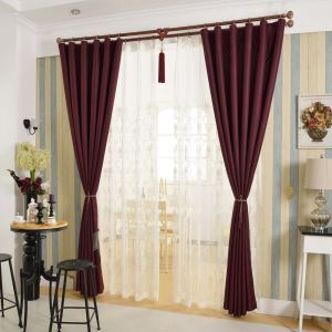 Modern Simple Ready Made Curtain Solid Color Curtain Bedroom Curtain (One Panel)