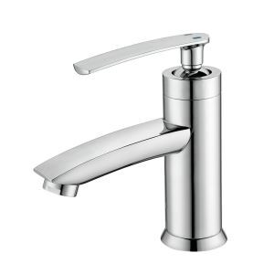 Contemporary Bathroom Sink Faucet Chrome Basin Tap Deck Mount Bathroom Tap