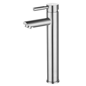 Modern Bathroom Sink Faucet Stainless Steel Basin Tap Single Handle