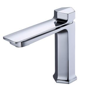 Bathroom Sink Faucet Chrome Basin Tap Modern Deck Mounted Vessel Tap