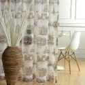 European Sheer Curtain Sketch Building Printed Curtain Living Room Curtain (One Panel)