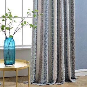 Contemporary Max Blackout Curtain Diamond Jacquard Curtain Bedroom Curtain (One Panel)