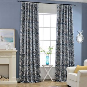 Thicken Max Blackout Curtain Triangle Precision Jacquard Curtain Office Curtain (One Panel)