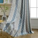 Max Blackout Curtain Vertical Flower Jacquard Curtain Bedroom Curtain (One Panel)