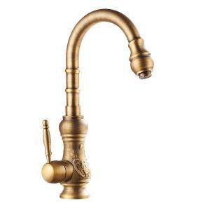 Swan Kitchen Tap Antique Brass Kitchen Faucet Antique Copper Swivel