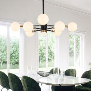 Nordic Glass Pendant Light Milky White Round Lamp Chandelier Light Living Room Lighting D275