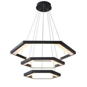 Nordic LED Pendant Light Geometric Shape Triple Layers Lamp Living Room Restaurant Light MDD181