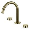 Widespread Bathroom Sink Faucet Dual Handles Basin Mixer Tap Deck Mounted Chrome/Black/Gold