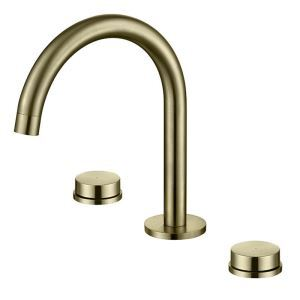 Simple Bathroom Sink Faucet Dual Handles Basin Tap Deck Mounted Chrome/Black/Gold