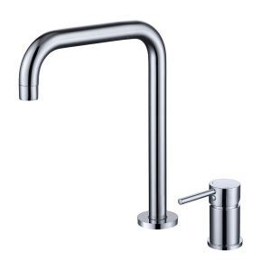 Simple Bathroom Sink Faucet Single Handle Basin Tap Chrome/Black/Gold