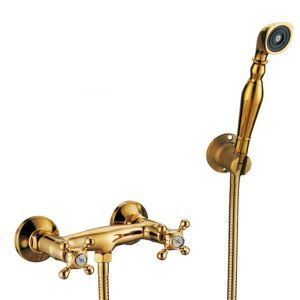 Luxury Bathtub Faucet Gold Wall Mounted Tub Shower Tap Without Faucet