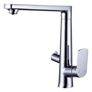 Rotatable Kitchen Faucet Chrome Kitchen Tap Net Faucet Dual Handles Tap